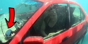 Βρίσκεστε σε αμάξι που βυθίζεται; Να τι πρέπει να κάνετε για να σωθείτε