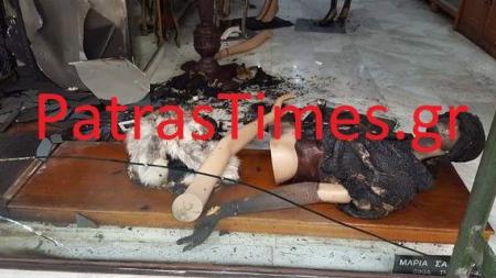 Πάτρα: Επίθεση με μολότοφ σε κατάστημα με γούνες -Ποιους βλέπουν από πίσω οι αρχές [εικόνες]
