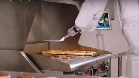 Φλίπι, το ρομπότ που ψήνει μπέργκερ σε φαστ φουντ στην Καλιφόρνια [βίντεο]