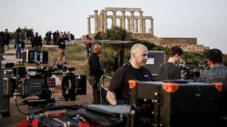 Καρέ καρέ τα γυρίσματα του BBC στο Σούνιο -Επιασαν δουλειά από το ξημέρωμα [εικόνες]
