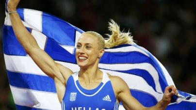 """Παγκόσμιο πρωτάθλημα στίβου: Χάλκινη η Κυριακοπούλου, """"πέταξε"""" στα 4,80μ."""