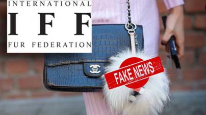 IFF προς δημοσιογράφους: Σταματήστε τα fake news – Οι δηλώσεις της CHANEL για τη γούνα παραποιήθηκαν ΜΗΝΥΜΑ ΠΡΟΣ ΤΟΥΣ ΦΟΡΕΙΣ ΤΗΣ ΓΟΥΝΑΣ ΑΠΟ ΤΗΝ IFF
