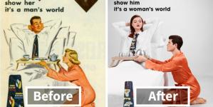 Φωτογράφος «πείραξε» διαφημίσεις από τη δεκαετία του 1950 για να δείξει πώς ο κόσμος έχει αλλάξει