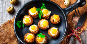 Συνταγή για μανιτάρια πορτομπέλο γεμιστά με αυγό