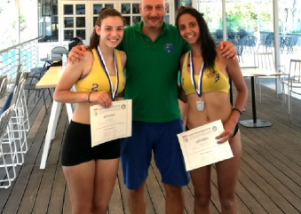 Καστοριά: Beach Volley Ασημένιες Βασιλική Παπαδοπούλου και Φρειδερίκη Ήργη (φωτο)