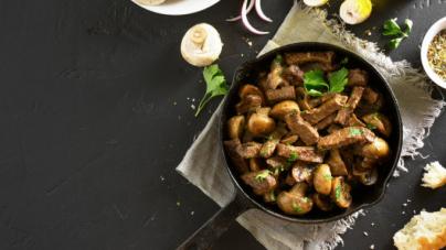 Συνταγή για μοσχάρι «στρογκανόφ» με μανιτάρια