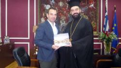Επίσκεψη του Αρχιμανδρίτη π. Αγαθάγγελου (Σίσκου) στον Δήμαρχο Καστοριάς