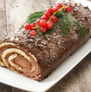 Συνταγή για χριστουγεννιάτικο κορμό σοκολάτας