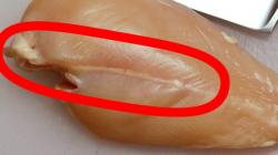 Τι σημαίνει αν δείτε λευκές ραβδώσεις στο ωμό κοτόπουλο